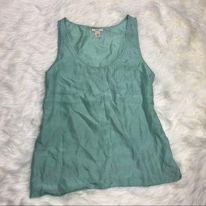 J. Crew sleeveless blouse baby blue size 6 silk